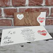 Invitatie de nunta rustica cu inima si amprenta 5669 CONCEPT