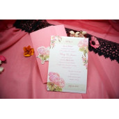 Invitatie de nunta cu hortensii 629