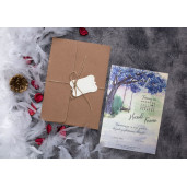 Invitatie de nunta vintage cu calendar 63652 ELITE