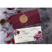 Invitatie de nunta florala 63692 ELITE