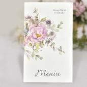 Meniu cu model floral liliachiu 6721 CLARA