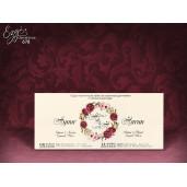 Invitatie de nunta cu tema florala 678