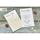 Invitatie de nunta florala cu perla 70218 KRISTAL