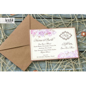 Invitatie de nunta vintage florala 70234 KRISTAL