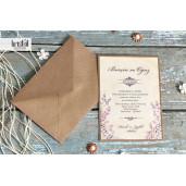 Invitatie de nunta florala natur 70237 KRISTAL