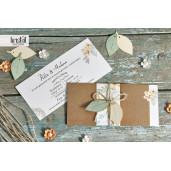 Invitatie de nunta boho cu frunzulite 70258 KRISTAL