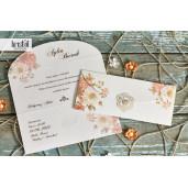 Invitatie de nunta florala plic 70266 KRISTAL
