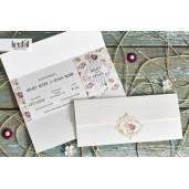 Invitatie de nunta eleganta florala 70268 KRISTAL