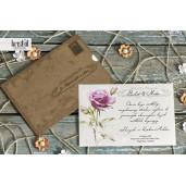 Invitatie de nunta florala vintage scrisoare 70273 KRISTAL