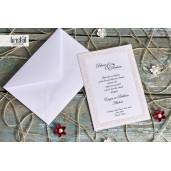 Invitatie de nunta glam cu chenar deosebit 70275 KRISTAL