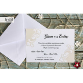 Invitatie de nunta clasica florala 70278 KRISTAL