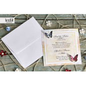 Invitatie de nunta cu fluturi 70279 KRISTAL
