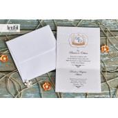 Invitatie de nunta florala cu insertii aramii 70309 KRISTAL