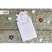 Invitatie de nunta cu flori pastel 70312 KRISTAL