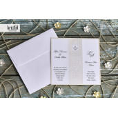 Invitatie de nunta eleganta florala 70314 KRISTAL