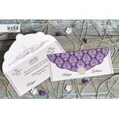 Invitatie de nunta florala mov 70321 KRISTAL