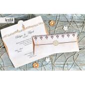 Invitatie de nunta eleganta tip scrisoare 70322 KRISTAL
