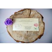 Invitatie cu motiv floral 74743 ELA