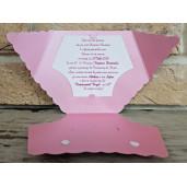 Invitatie de botez scutec roz 8025 SEDEF