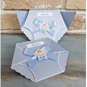 Invitatie de botez scutec bebe albastru 8026 SEDEF