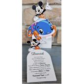 Invitatie de botez cu Mickey Mouse si masinuta 8037 SEDEF