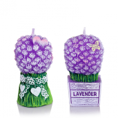 Lumanare parfumata Buchet Lavanda set 2 buc BC6258