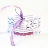 Eticheta - Card dublu perforat alb 90