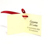Eticheta - Card dublu perforat crem 95