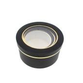 Cutie Carton Neagra cu Geam Dunga Aurie 3/Set CTC144