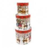 Cutie Carton Rotunda Mos Craciun Ren 3/Set CTC149