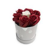 Aranjament Cadou de Masa Craciun cu Flori Parfumate de Sapun DEC137