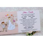 Invitatie de nunta haioasa roz cu miri 2220 Polen