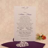 Invitatie de nunta dantelata mov 2205 Polen