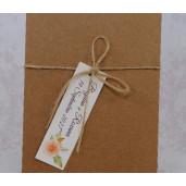 Invitatie de nunta florala crem cu plic natur 22153 POLEN