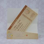 Invitatie de nunta bilet de avion vintage 2230 Polen