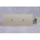 Invitatie de nunta florala crem in forma de plic 2207 Polen