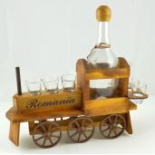 Suport din lemn pentru sticla si pahare Locomotiva ES3087
