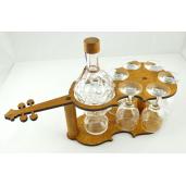 Suport din lemn pentru sticla si pahare Vioara ES3503