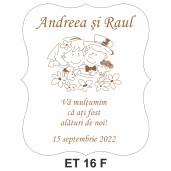 Eticheta pentru sticla ET 16 F