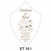 Eticheta pentru sticla ET 16 I