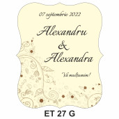 Eticheta pentru sticla ET 27 G