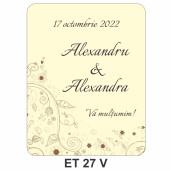 Eticheta pentru sticla ET 27 V