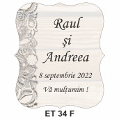 Eticheta pentru sticla ET 34 F