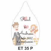 Eticheta pentru sticla ET 35 P