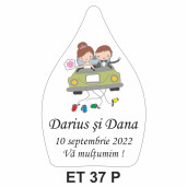 Eticheta pentru sticla ET 37 P