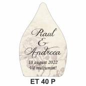 Eticheta pentru sticla ET 40 P