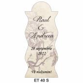 Eticheta pentru sticla ET 40 S