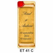 Eticheta pentru sticla ET 41 C