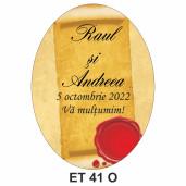 Eticheta pentru sticla ET 41 O