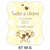 Eticheta pentru sticla ET 59 G